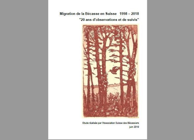Migration de la Bécasse en Suisse 1998 – 2018, «20 ans d'observations et de suivis»